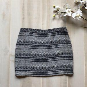 Navy Printed Skirt
